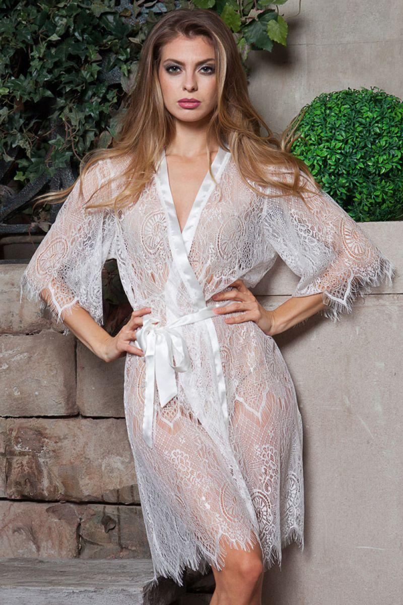 Купить Короткий кружевной халатик Magdalena с доставкой по Москве и регионам России